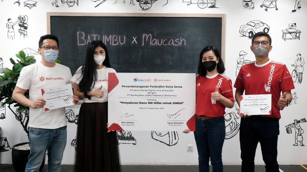 Targetkan Rp100 M Penyaluran Dana UMKM, Maucash dan Batumbu Jalin Kerja Sama