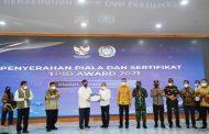 Gubsu Terima TPID Award 2021 dari Menko Perekonomian